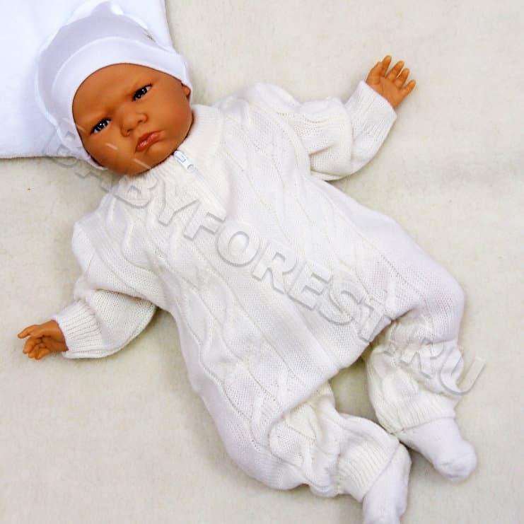 вязаный комбинезон для новорожденного купить интернет магазин
