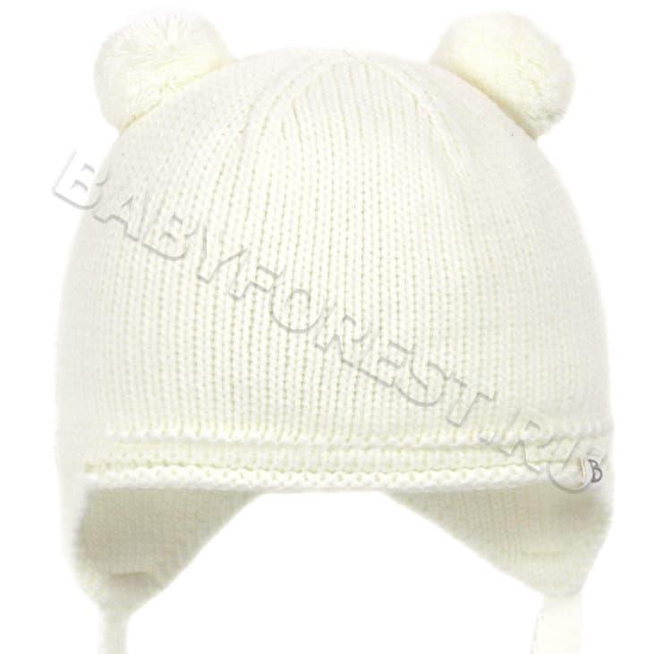 теплая шапочка для новорожденных на выписку