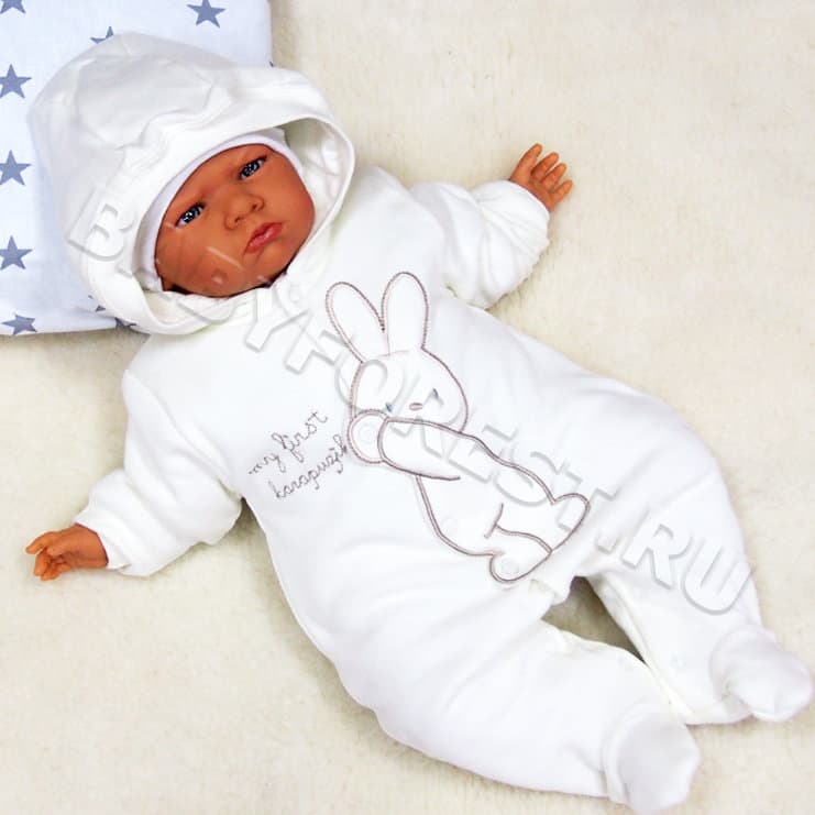 cc35d1f02953 Хлопковый комбинезон для новорожденных на легком утеплителе