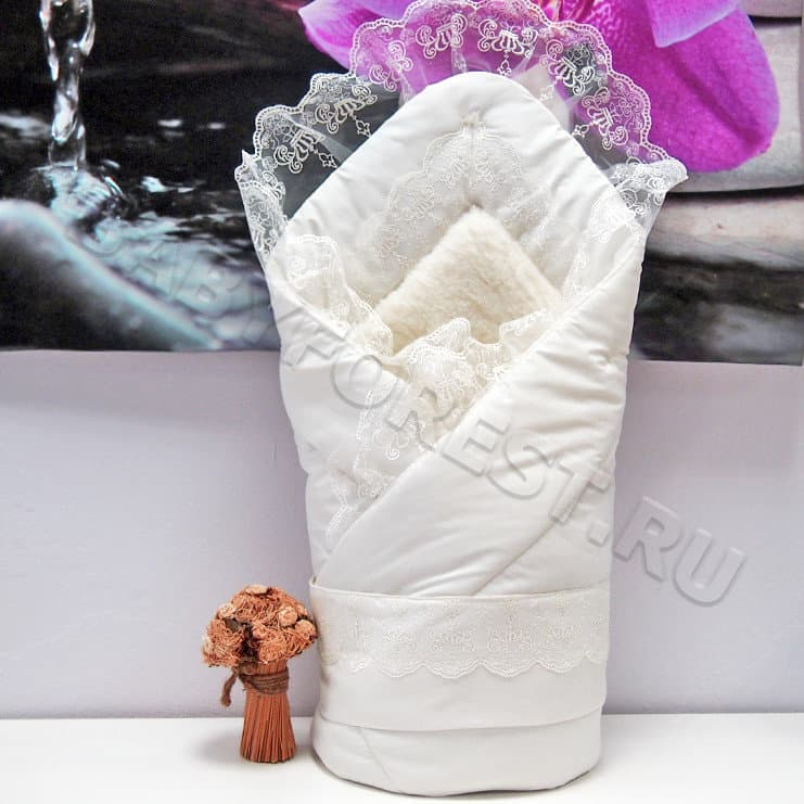 Конверты одеяло на выписку для новорожденных зима