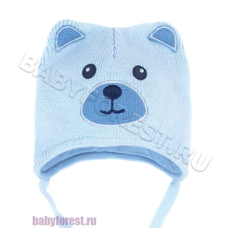 вязаная весенняя шапка для новорожденного мальчика купить